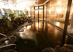 大阪の景色が一望できる露天風呂!